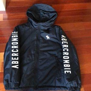 Kids Abercrombie rain coat with hood. Size 11/12.